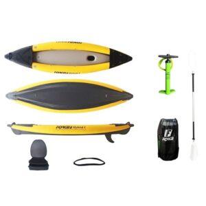 kayak Φουσκωτό kano Υβριδικό Καγιάκ FORCE Hybrid Κίτρινο-Μαύρο
